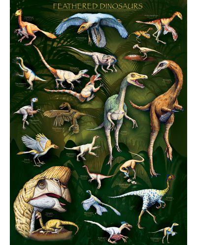 Puzzle Eurographics de 1000 piese – Dinozauri cu pene - 2