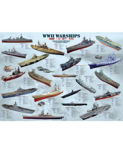 Puzzle Eurographics de 1000 piese – Nave militare din Al doilea razboi mondial - 2