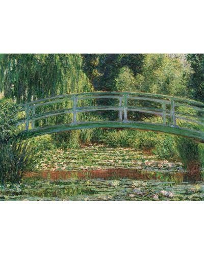 Puzzle Eurographics de 1000 piese – Pod japonez/Nuferi, Claude Monet - 2