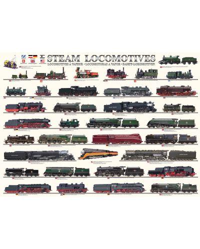 Puzzle Eurographics de 1000 piese – Locomotive cu abur - 2
