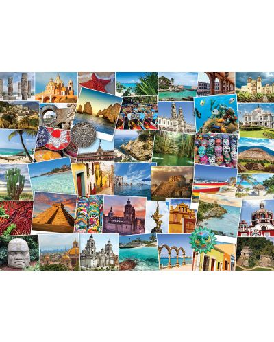 Puzzle Eurographics de 1000 piese – Calatorie in Mexic - 2