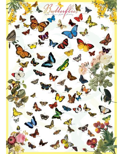 Puzzle Eurographics de 1000 piese – Fluturi - 2