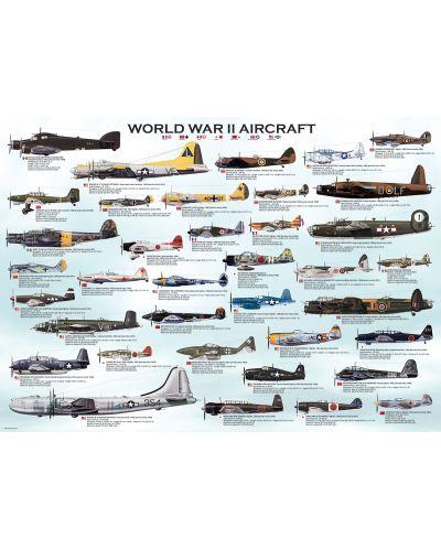 Puzzle Eurographics de 1000 piese – Avioane militare din al doilea razboi mondial  - 2