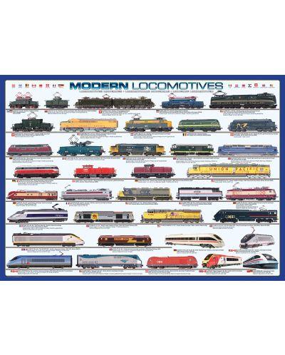 Puzzle Eurographics de 1000 piese – Locomotive contemporane - 2