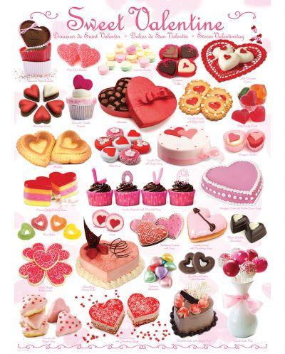 Puzzle Eurographics de 1000 piese – Dulciuri pentru Sfant Valentin - 2