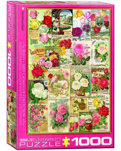 Puzzle Eurographics de 1000 piese – Catalog cu soiuri de trandafiri - 1