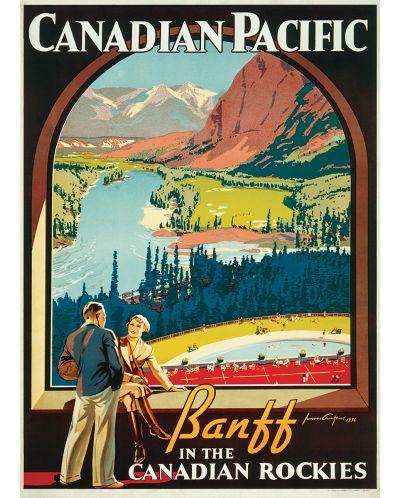 Puzzle Eurographics de 1000 piese – Canadian Pacific, Banff, Muntii stancosi - 2