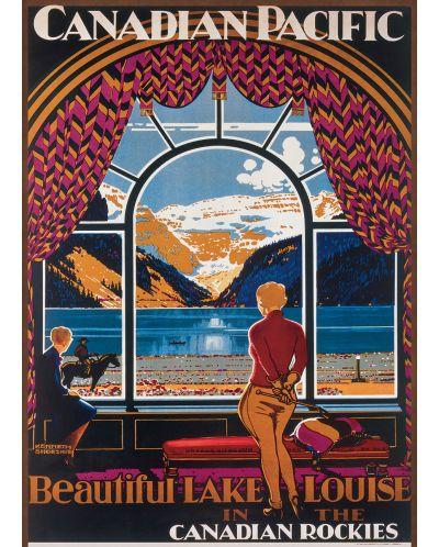 Puzzle Eurographics de 1000 piese –  Canadian Pacific, Frumosul lac Louis - 2