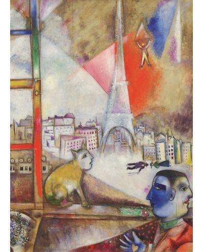 Puzzle Eurographics de 1000 piese – Paris de la fereastra, Mark Chagall - 2