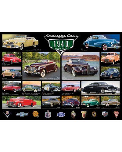 Puzzle Eurographics de 1000 piese – Autoturisme clasice din anul 1940 - 2