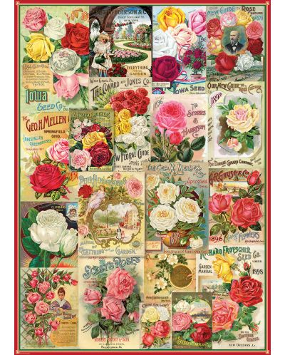Puzzle Eurographics de 1000 piese – Catalog cu soiuri de trandafiri - 2