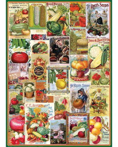 Puzzle Eurographics de 1000 piese – Catalog cu seminte de legume - 1