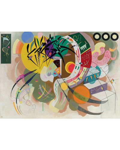 Puzzle Eurographics de 1000 piese – Curba dominanta, Wassily Kandinsky - 2