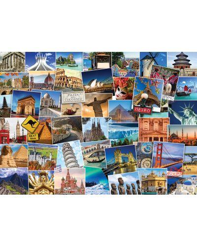 Puzzle Eurographics de 1000 piese – Colectia Globetrotter: lumea - 2