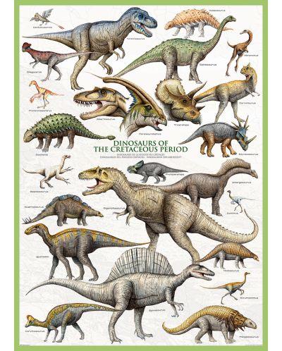 Puzzle Eurographics de 1000 piese – Dinozauri- perioada cretacică - 2