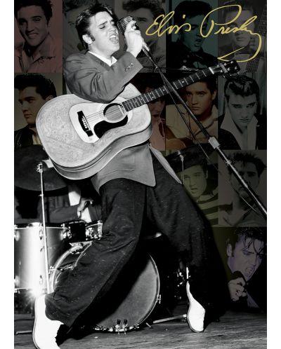 Puzzle Eurographics de 1000 piese – Colaj cu pozele lui Elvis Presley - 2
