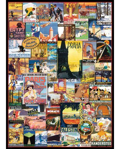 Puzzle Eurographics de 1000 piese – Reclame retro pentru calatorii in jurul lumii - 2