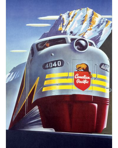 Puzzle Eurographics de 1000 piese – Canadian Pacific, Locomotiva diesel  - 2