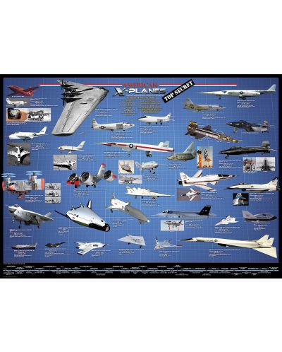 Puzzle Eurographics de 1000 piese – Aviatia americana experimentala  - 2