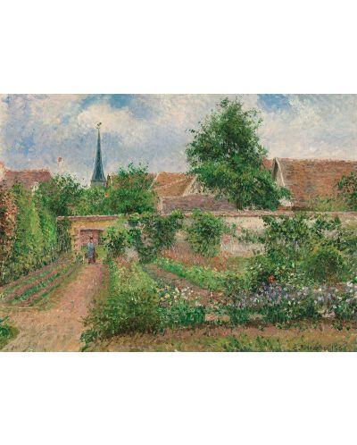Puzzle Eurographics de 1000 piese – Gradina de legume, copaci infloriti, primavara, Camille Pizarro - 2