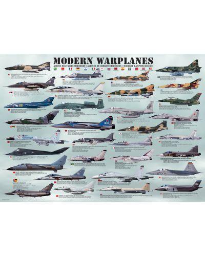 Puzzle Eurographics de 1000 piese – Avioane militare moderne - 2