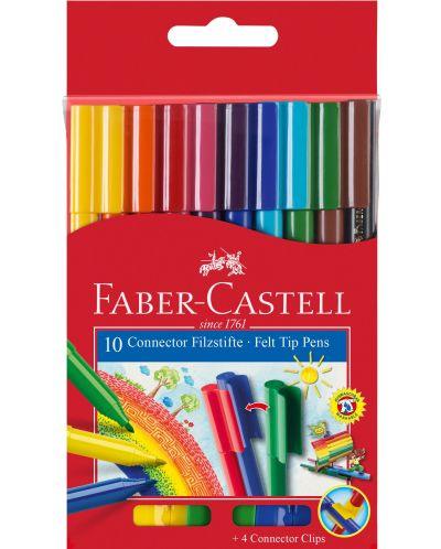 Carioci Faber-Castell Connector - 10 culori - 1
