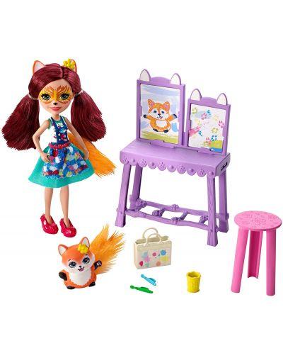 Set de joc Mattel Enchantimals - Studio de arta cu Felicity Fox si Flick - 3