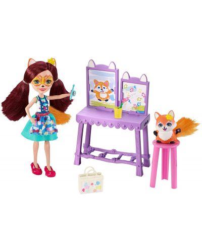 Set de joc Mattel Enchantimals - Studio de arta cu Felicity Fox si Flick - 2