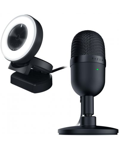 Set gaming Razer - microfon Seiren Mini + camera web Kiyo - 1