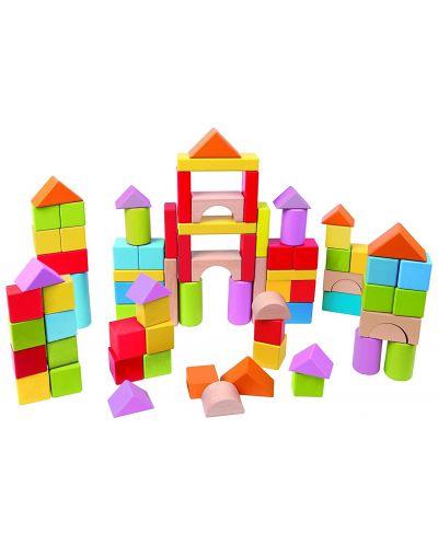 Cuburi din lemn in cutie sortatoare Hape - 101 piese - 3