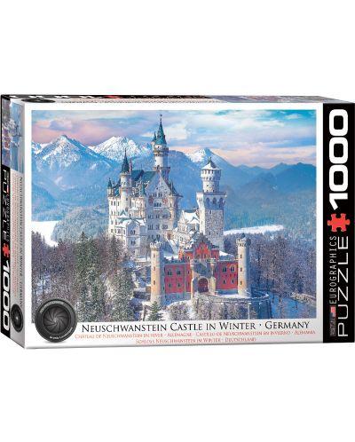 Puzzle Eurographics de 1000 piese - Castelul Neuschwanstein iarna - 1