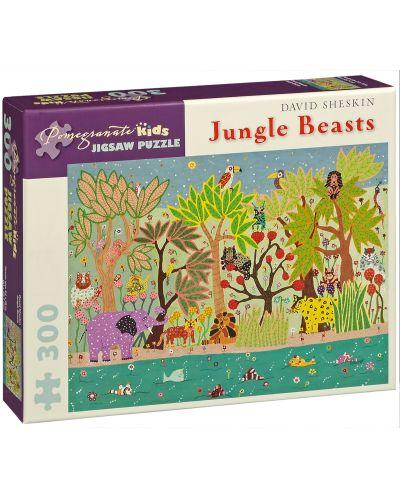 Puzzle Pomegranate de 300 piese - Bestii in jungla, David Sheskin - 1