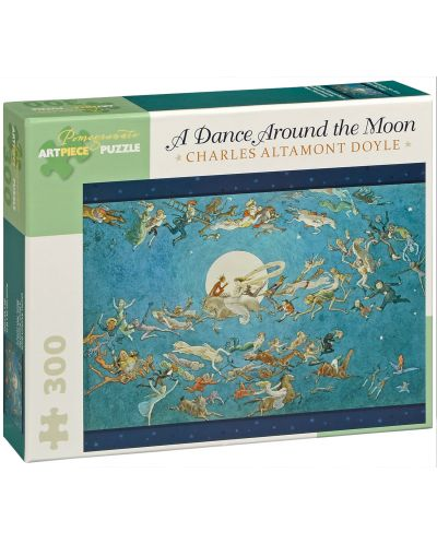 Puzzle Pomegranate de 300 piese - Dans In jurul lunii, Charles Doyle - 1