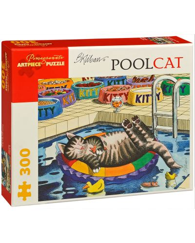 Puzzle Pomegranate de 300 piese - Pisica in piscina, B Kliban - 1