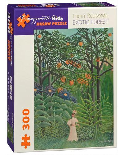 Puzzle Pomegranate de 300 piese - Padurea exotica, Henri Rousseau - 1