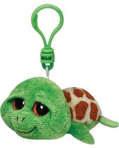 Breloc TY Toys Beanie Boo - Broasca testoasa Zippy, 8.5 cm - 1