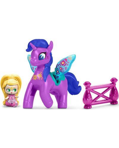 Set Fisher Price Shimmer & Shine - Papusa si unicorn Leah & Zahracorn - 2