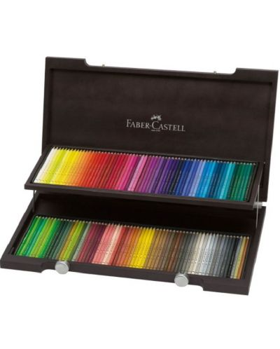 set creioane colorate faber castell polychromos, 120 culori   ozone.ro