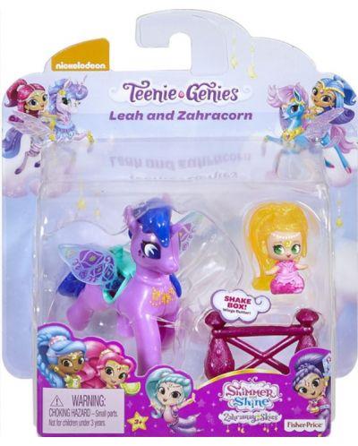Set Fisher Price Shimmer & Shine - Papusa si unicorn Leah & Zahracorn - 1