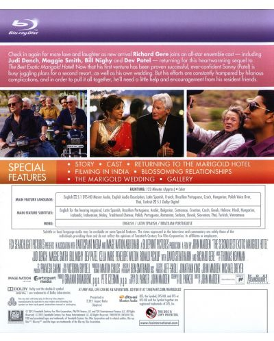 The Second Best Exotic Marigold Hotel (Blu-ray) - 3