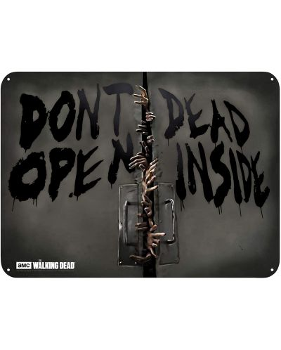Poster metalic ABYstyle Television: The Walking Dead - Zombies	 - 1