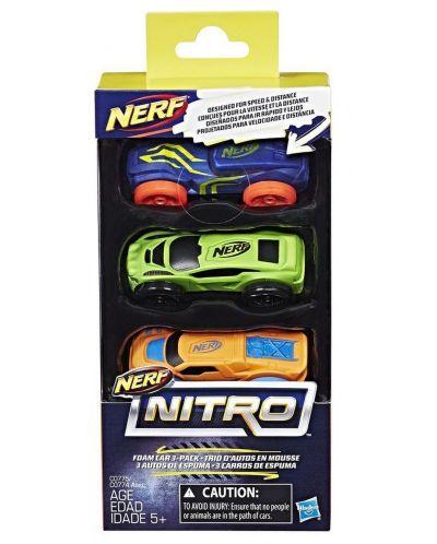 Set masinute Hasbro Nerf - Nitro, 3 bucati - 2