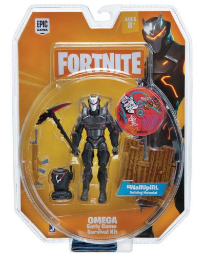 Figurina de actiune Fortnite - Early Game Survival Kit - Omega, 10 cm - 3