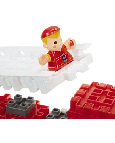 Constructor Little Tikes Waffle Blocks - Masina de pompieri - 3
