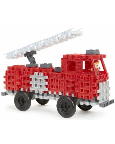 Constructor Little Tikes Waffle Blocks - Masina de pompieri - 2
