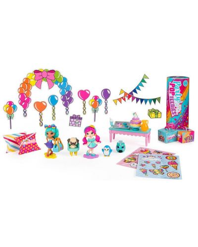Set Spin Master Party Popteenies - Cu 3 papusi si accesorii - 2