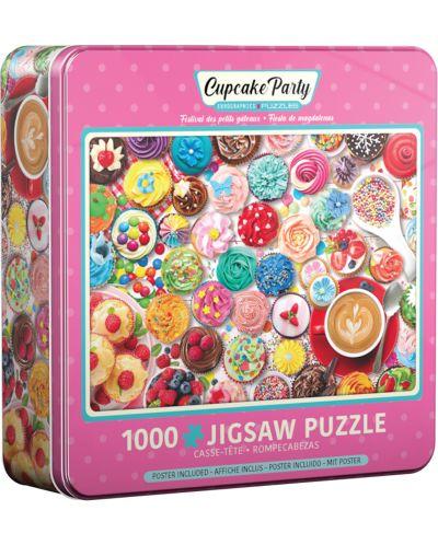 Puzzle Eurographics de 1000 piese - Cupcake Party Tin - 1