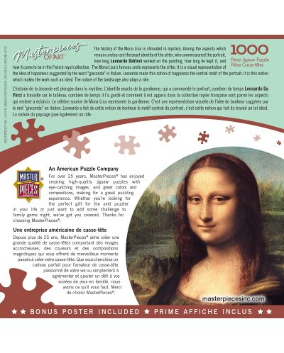Puzzle  Master Pieces de 1000 piese - Mona Lisa - 3