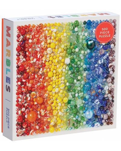 Puzzle Galison de 500 piese - Rainbow Marbles  - 1