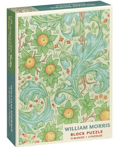 Puzzle-uri cubulete Pomegranate de 12 piese - Gradina, William Maurice - 1